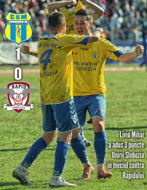 FOTBAL - LIGA II - FC UNIREA SLOBOZIA - RAPID BUCURESTI