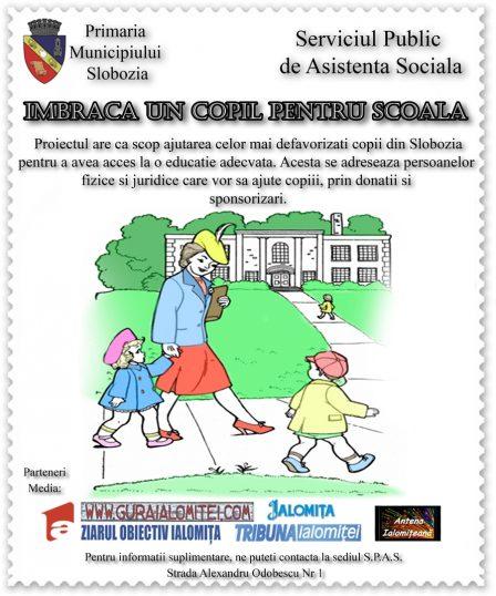 Imbraca un copil de scoala